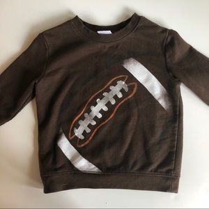 Toddler Football Crew Neck Sweatshirt | 2t